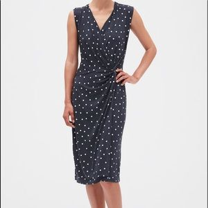 Print Twist Wrap Dress Medium Petite